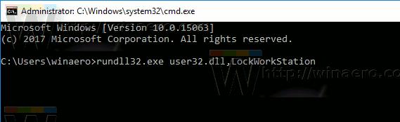 Lock Windows 10 From Cmd