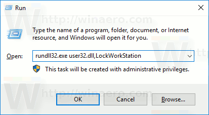 Lock Windows 10 From Run