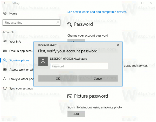 Pin Confirm Your Password