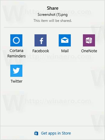 Share Pane No App Suggestions