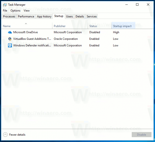 Backup Task Manager Settings in Windows 10
