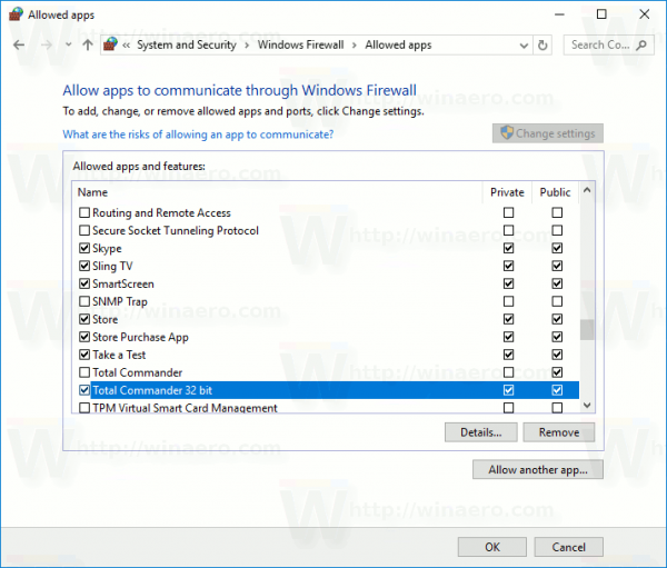 Allow Apps In Windows Firewall In Windows 10