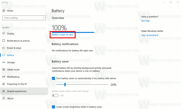 Battery Usage By App Link