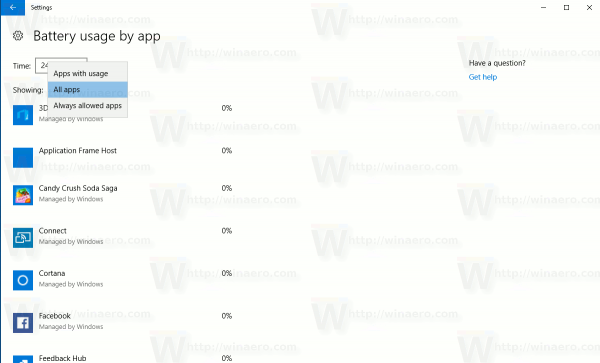 Battery Usage By App Page