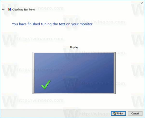 Change ClearType Font Settings In Windows 10