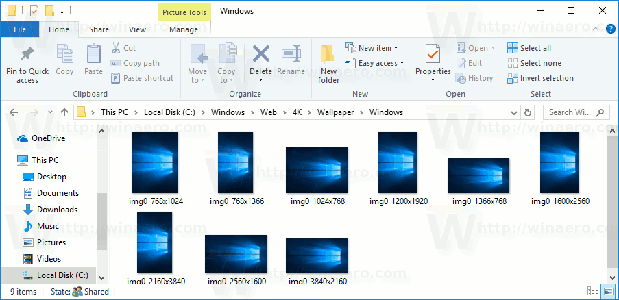 Default Thumbnail Previews In File Explorer In Windows 10