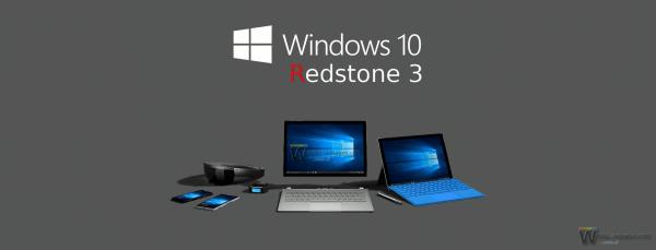 Devices Windows 10 Redstone 3 Logo Banner