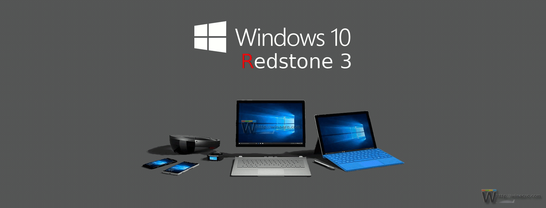 Devices Windows 10 Redstone 3 Logo Banner