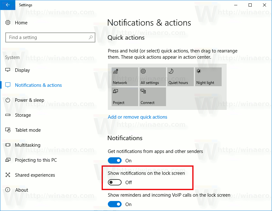 Disable App Notifications On Lock Screen In Windows 10