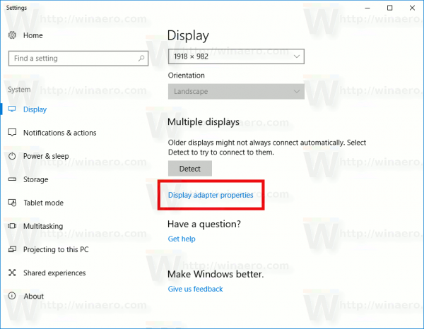 In this post, we will learn about how to how to change the Screen Resolution, Color calibration, ClearType Text, Display Adapter, Text sizing and other Display settings in Windows 10.