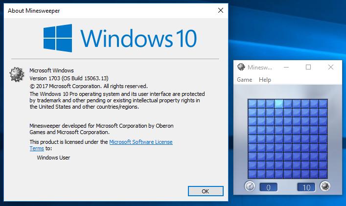 Windows 7 Games for Windows 10 Creators Update