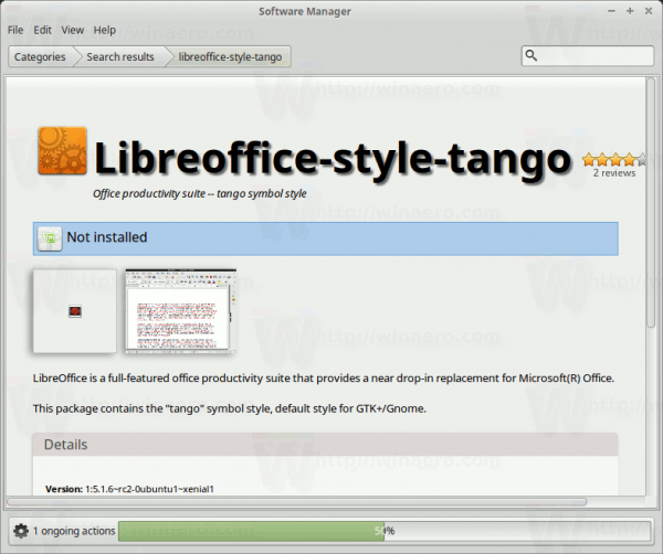 Mint Install Libreoffice Style Tango