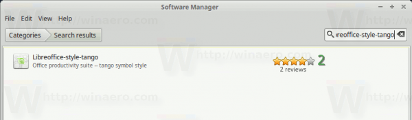Mint Software Manager Libreoffice Style Tango