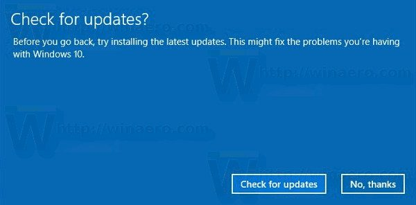 Uninstall Windows 10 Creators Update Check For Updates