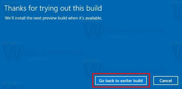 Uninstall Windows 10 Creators Update Last Prompt