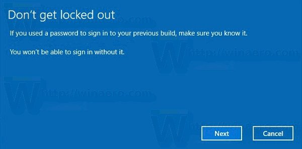 Uninstall Windows 10 Creators Update Password