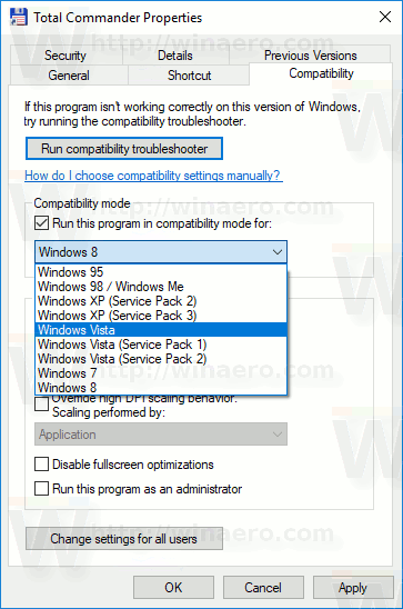 Windows 10 App Compatibility OS Version