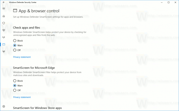 Windows 10 Disable SmartScreen