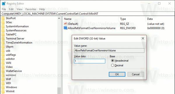 Windows 10 Enable ReFS