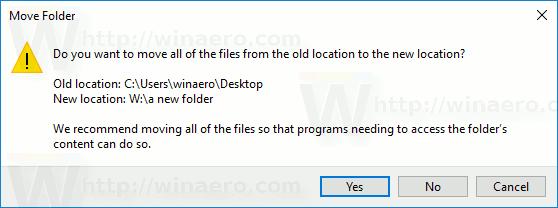 Windows 10 Move Desktop Folder
