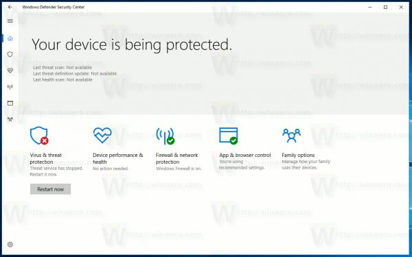 Windows 10 Security Center