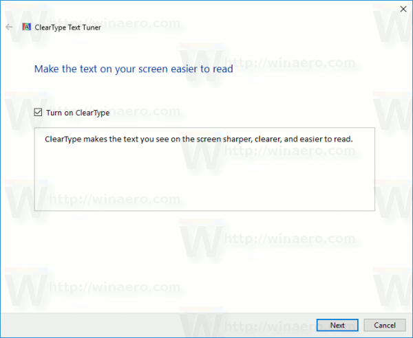 Windows 10 Cleartype Text Tuner Enable Disable