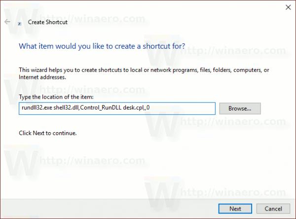 Windows 10 Desktop Icon Settings Shortcut