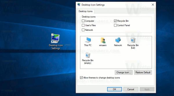 Windows 10 Icon Settings Shortcut