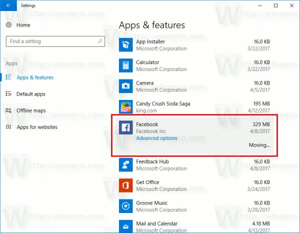 Windows 10 Moves The App