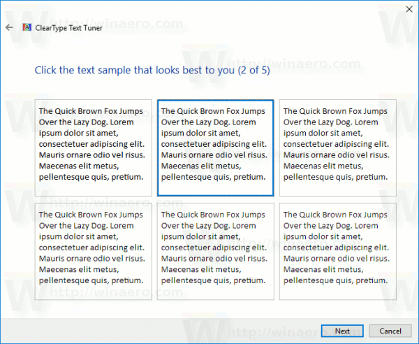 Windows 10 Pick Text Sample Page 2