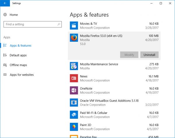 Windows 10 Uninstall Desktop App