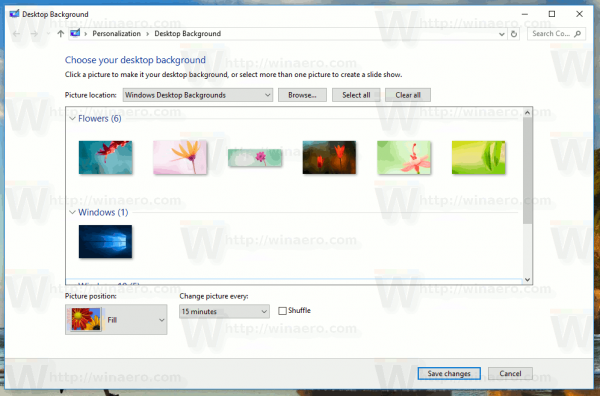 Classic Desktop Background Window
