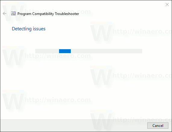 Compatibility Troubleshooter Wizard