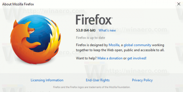 Firefox 53 About