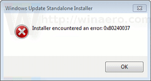 Manual Update Failed