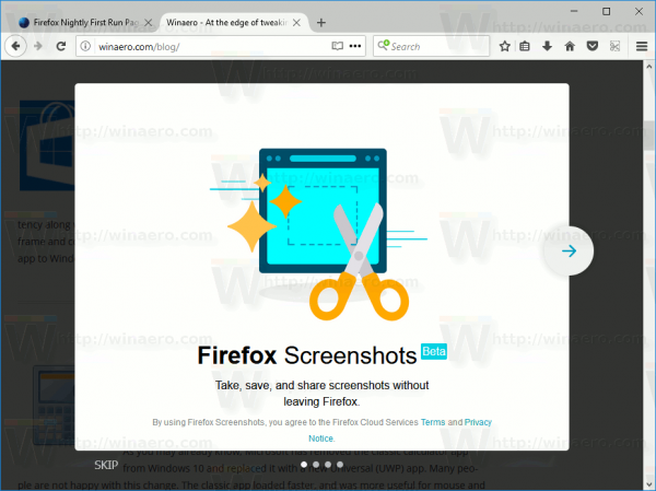 Firefox Screenshots Introduction