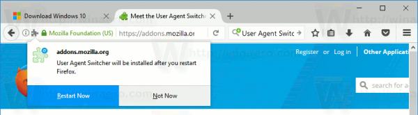 Restart With Add On Prompt