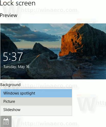 Select Picture As Spotlight