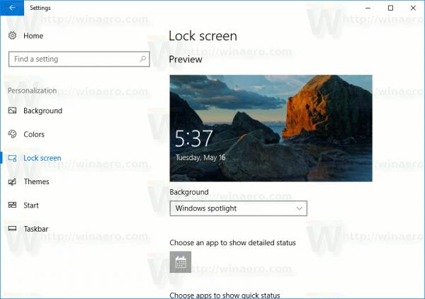 Settings Personalization LockScreen