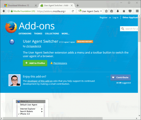 User Agent Switcher In Firefox