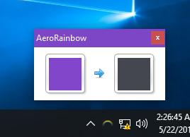 Windows 10 AeroRainbow Preview