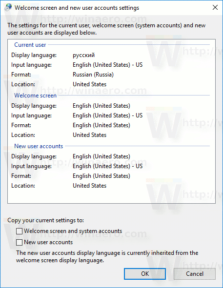 Windows 10 Copy Region Language