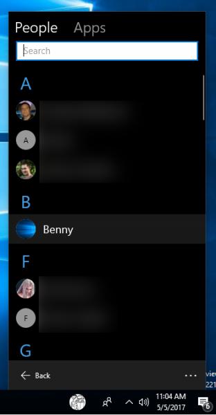Windows 10 Pin Contact To Taskbar