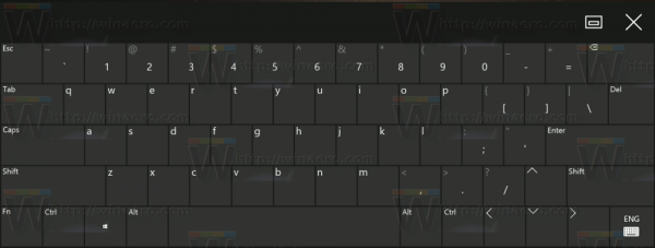 Windows 10 Standard Layout In Touch Keyboard