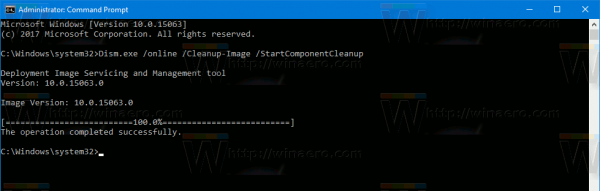 Windows 10 Cleanup Component Store Dism