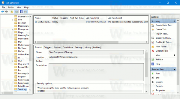 Windows 10 Cleanup Component Store Task