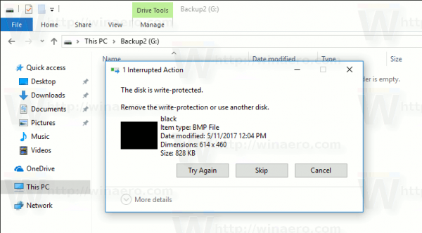 Windows 10 Disk Is Readonly