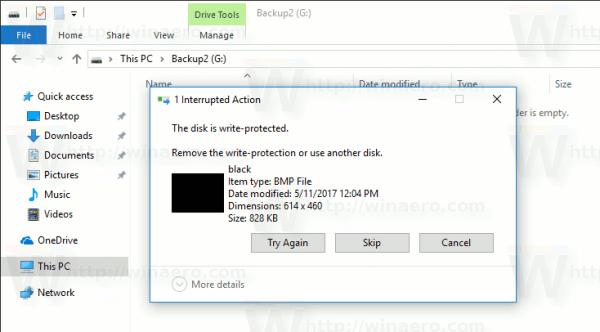 Windows 10 Disk Is Readonly