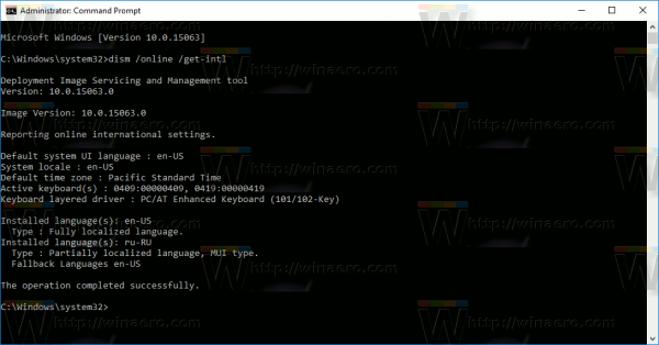 Windows 10 Get Default Language