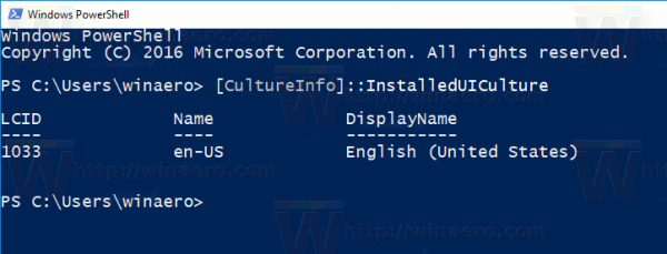 Windows 10 Get System Language